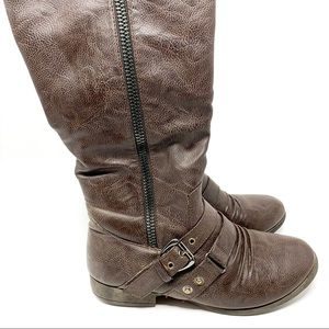 Top Moda | Women's Boots Brown w/ Buckles Size 6.5